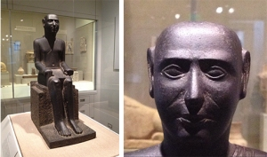 Seated Dignitary from Karanis, Egypt