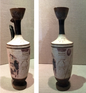 Attic lekythos with funeral scene. KM 2604.
