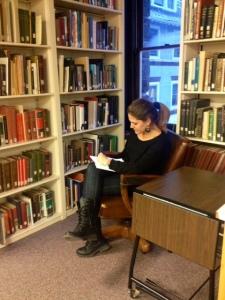 Arianna Zapelloni Pavia prepares to teach her class.