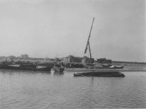 """Image KS175_01: April 27, 1920; George R. Swain; Dimay trip. """"Looking back toward the shore as we started out to cross the lake."""""""