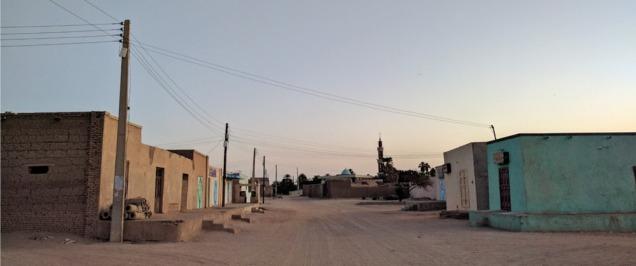 Street scene in Kurru, Sudan.