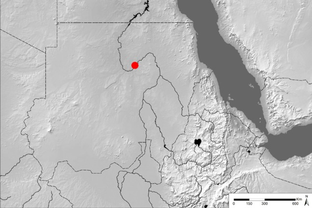 Map of Sudan.