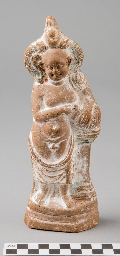 terracotta figurine of harpocrates