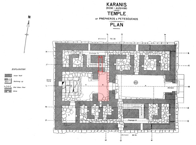 plan of a temple
