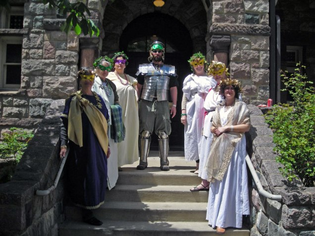 people dressed in Roman costume