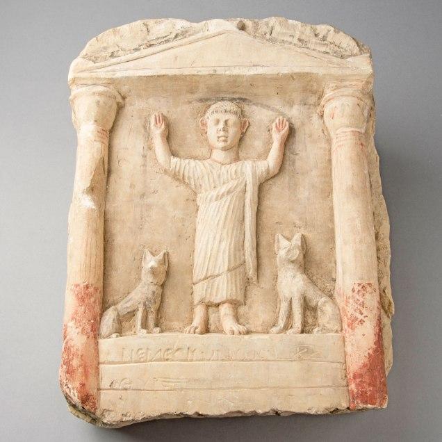 Roman funerary stela