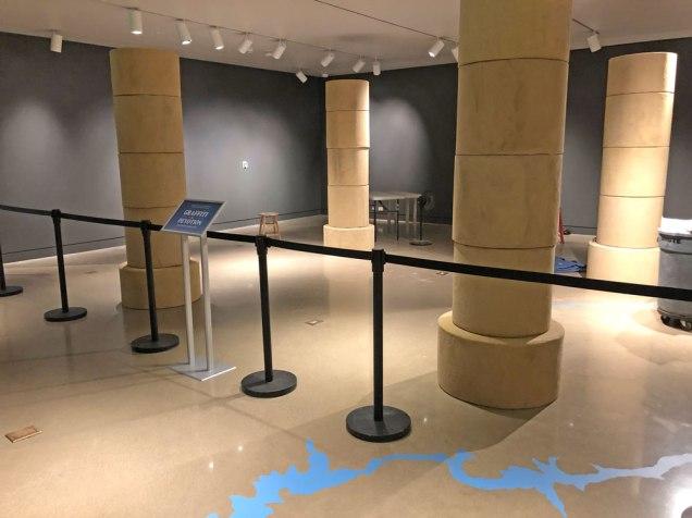 empty museum gallery