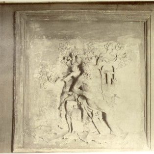 Bas-relief representing the Cyclops Polyphemus and a cupid.