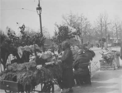 Paris, France. Flower sellers by the Porte Maillot. KS235.06.