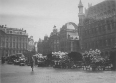 Brussels, Belgium. Flower vendors in the old Grand Place. KS236.02.